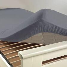 Douceur D'intérieur Drap Housse Uni coton Gris Souris 140 x 190 cm