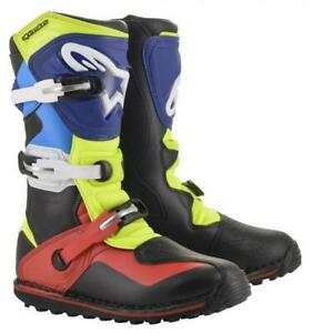 Alpinestars TECH T Trials Bike Boots. Black/Red/Blue. ALL SIZES. SPECIAL OFFER