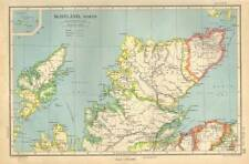 Antique Map 1947 Bartholomew Scotland, North