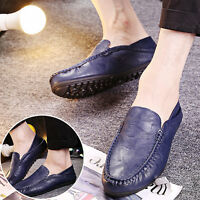 NEW Mens Slip On Casual Shoes Leather Loafers Smart Wedding Office Work UK Size