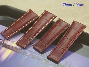 Genuine Leather Band Strap Bracelet (FITS) Rolex DAYTONA Red wine 7cm/6cm