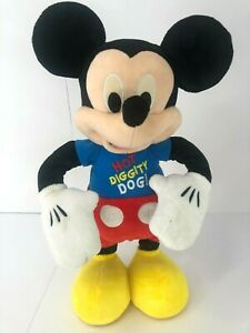 Vintage Mickey Mouse Clubhouse Hot Diggity Dog Dance Play Plush Electronic