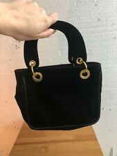 Vintage Velvet Mini Handbag in Black