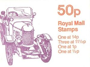 GB QE 1981 Folded 50p Booklet, Veteran Cars No.6 - FB15A