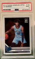 2019-20 Panini Donruss Optic Rookie Ja Morant RC PSA 9 MINT Grizzlies #168