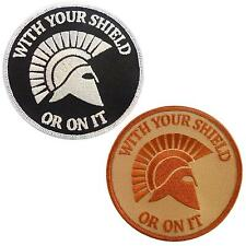 set of 2 morale spartan helmet fastener patches patch us navy seals WITH YOUR