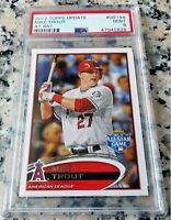 MIKE TROUT 2012 Topps Update At Bat PSA 9 SP ROY MVP Los Angeles Angels HOT $$$