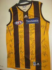 HAWTHORN 2015 PREMIERS TEAM HAND SIGNED JERSEY UNFRAMED +PHOTO PROOF + COA