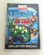 Topps Marvel Hero Attax Official Trading Card Game Binder and Cards