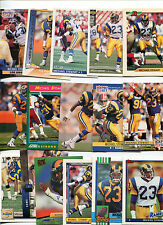 Michael Stewart 16 card lot all different Fresno St. Bulldogs / Los Angeles Rams