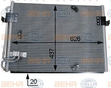 Kondensator, Klimaanlage für Klimaanlage HELLA 8FC 351 036-151