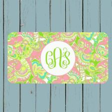 Lilly Pulitzer Inspired Monogram License Plate Car Tag Personalized