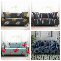 Floral 1/2/3/4 Seater Slipcover Stretch Sofa Cover Couch Elastic Protector US