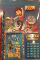 Nickelodeon Paw Patrol 7pc Fun Calculator School Supply Set Ages 3 & Up NEW