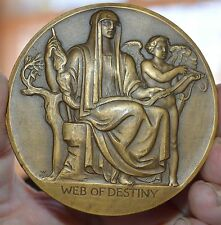 COMPLETE 1949 SOCIETY OF MEDALISTS ISSUE #39, WEB OF DESTINY BRONZE MEDAL 2 3/4""