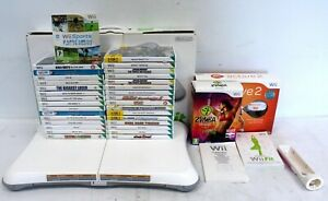 NINTENDO Wii Fit Board Bundle with 34 Games Inc EA Active 2, Zumba Fitness - G23
