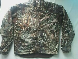 Mossy Oak Size Med. Whistling Wings Fleece Full Zip Camo Duck Blind Jacket