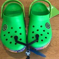 Boys Crocs Light Up Ninja Turtles Neon Green Size 12