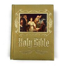 Holy Bible Catholic Heirloom Edition 1975-76 Edition Embossed Hardcover Photos