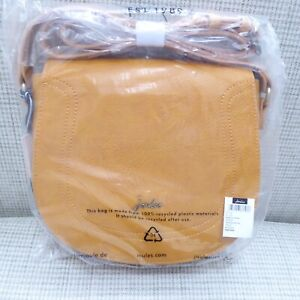 JOULES SADDLE BAG, ANTIQUE GOLD, NEW, TAGS, PACKAGING.