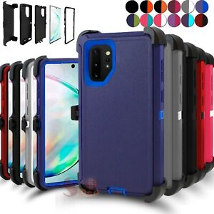 For Samsung Galaxy Note 10 Note 10 Plus Shockproof Defender Case w/ Belt Clip