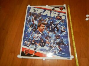 Vintage Chicago Bears Poster 1987 Coach Ditka Rare International Galleries WOW