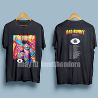 New BAD BUNNY Tour 2019 with dates Men's Black T-Shirt Size S-XXL