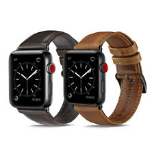 40/44mm Genuine Leather Band Wrist Strap for Apple Watch Series 6 5 4 iWatch SE