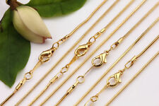 5Pcs Copper Silver Gold Tone Snake Chain Clasp Jewelry Findings Making Necklace