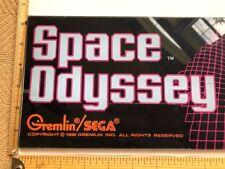 ARCADE GAME UPPER MARQUEE ORIGINAL SPACE ODYSSEY by GREMLIN/SEGA 1981 ITEM#3