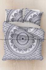 Gray trishul mandala indian duvet quilt cover cotton comforter cover bedding set