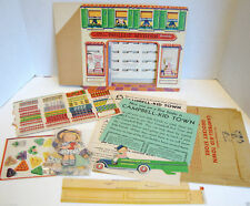 Campbell's Soup  1933 CAMPBELL-KID TOWN Phillup Mydish Grocery Store premium