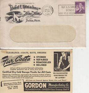 ADVERTISING FUR COATS KAKINS&SONS BOSTON POLAR BEAR GORDON FUR COATS BOTH 1946