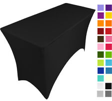 BLACK spandex stretch cover tablecloth for 4ft foot table 120X75X75