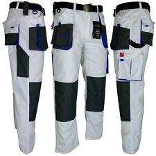 Arbeitshose Malerhose Bundhose Arbeitskleidung Hose weiß blau grau Gr. 44-64