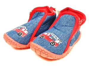 Playshoes Slippers, Flexible Sole Zip Size 22-23,24-25,26-27