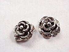 Blooming Rose Stud Earrings 925 Sterling Silver Corona Sun Jewelry Flowers