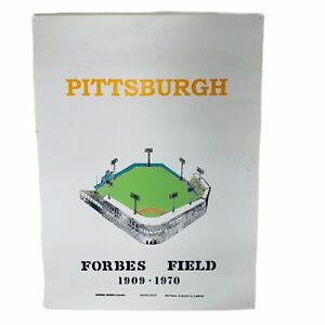 "VINTAGE Forbes Field 1909-1970 Pittsburgh Pirates 18""x24"" Stadium Wall Poster"