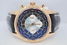 Breitling Transocean Unitime 46mm Rb0510u4/bb63 18k Rose Gold Men's Watch