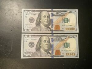 2009 $100 One Hundred Dollar Bill *Star Note* Low Serial Numbers.