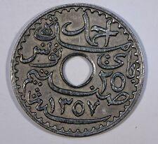 MONNAIE TUNISIE 25 centimes 1938 nickel-bronze/alu  KM#260   ACA506