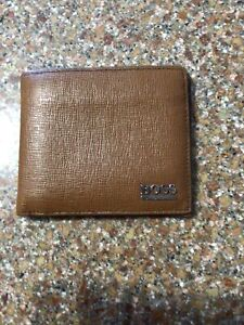 Hugo Boss Brown Wallet 11cm X 9.5cm