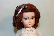 Daisy Dark Auburn mohair wig for antique French/ German bisque doll size 9 - 10