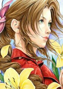 A4 Print AERITH Final Fantasy 7 FFVII Remake by Artist MORTIMER SPARROW