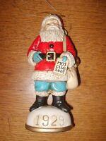 Memories of Santa Collection 1929 Savings Account Santa New In Box