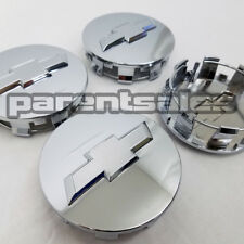 """(4) 83mm 3.25"""" Chevy style Center Caps Chrome 20"""" 22"""" 24"""" wheels 14-17 Truck SUV"""