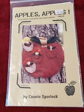 New listing Vintage Nip Apples, Apples! Placemat, Coaster & Ornament Sewing Pattern