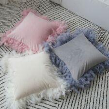 Throw Pillow Case Cushion Cover Feather Velvet Fluffy Furry Sofa Bed Home Decor
