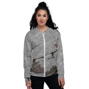Moss Lichen Granite Unisex Bomber Jacket