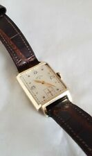 14ct Yellow Gold Gentleman's Lord Elgin wrist watch. Diamond set hour numerals